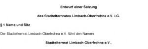 Satzung des Stadtelternrates Limbach-Oberfrohna e.V. i.G.
